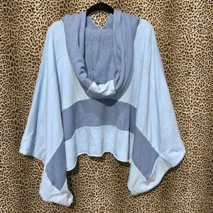 Free People Baby Blue Poncho